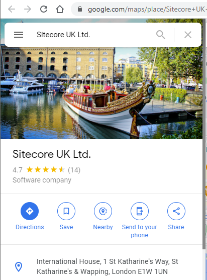 Sitecore London Office