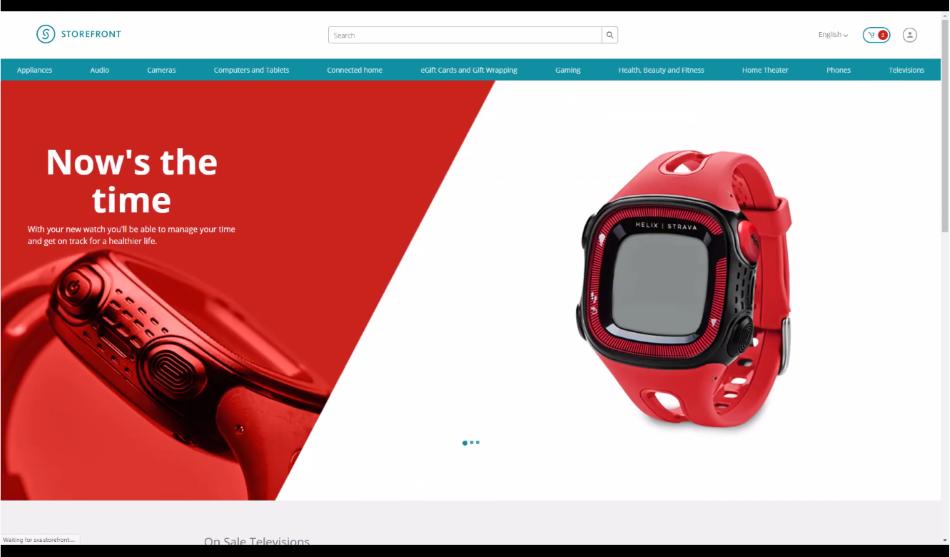 SXA Storefront sample